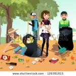 stock-vector-a-vector-illustration-of-kids-volunteering-by-cleaning-up-the-park-129381815